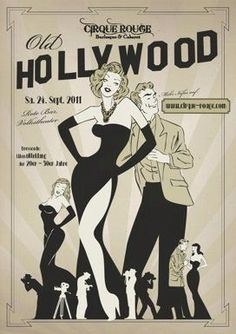 Old hollywood poster