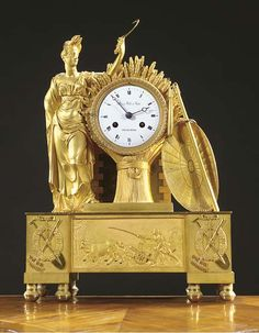 Antique Wall Clocks, Classic Clocks, Wall Clock Online, Unique Clocks, Mantel Clocks, Retro Clock, French Empire, White Enamel, Vintage Watches