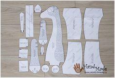 Жираф Гоша от Miadolla. Мастер-класс по пошиву текстильной игрушки.