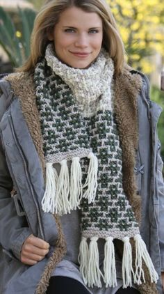 Free Knitting Pattern for Slip that Stitch Scarf - #ad Introduction to mosaic knitting. Quick knit in bulky yarn. Design by Lena Skvagerson. Free with registration at Annie's tba