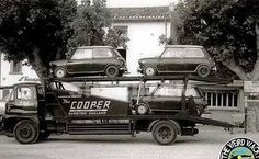 Vintage Trucks PoldiWorld — - Cooper Car Co. Mini Cooper S, Cooper Cars, Vintage Trucks, Vintage Racing, Classic Mini, Classic Cars, Car Carrier, Classic Chevy Trucks, New Trucks