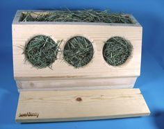 SaveABunny - 3-hole 'hay saver' - made from untreated pine