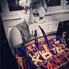 Rita Ora had graffiti artist Al-baseer Holly deface her Birkin.