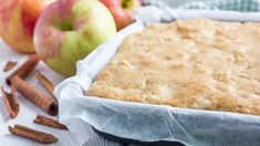 Whether you're entertaining guests or making a new sweet treat for your family, nobody will know you made some nutritional swaps in these delectable apple blondies, like sugar for maple syrup, and wheat flour for organic coconut flour. Spiced Apples, Cinnamon Apples, Dehydrated Apples, Dairy Free Baking, Dairy Free Cream, Dog Cookies, Protein Power, Sin Gluten, Coconut Flour