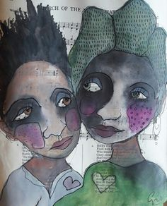 Lovers Watercolour and graphite on paper