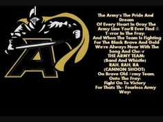 Army Fight Song combination of fight song & Benny Havens.