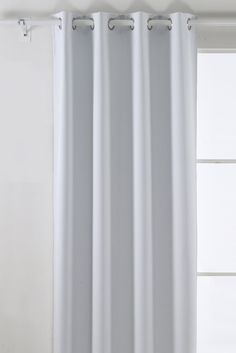 Amazon.com - Deconovo Room Darkening Thermal Insulated Blackout Grommet Window Curtain Panel For Nursery Room, White, 52x95-Inch -