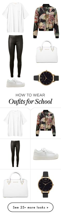 """""""School"""" by moonandbook on Polyvore featuring AG Adriano Goldschmied, Miss Selfridge, MICHAEL Michael Kors and Olivia Burton"""