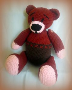 Häkeln Teddy Bär Schokolade von Crochetland auf DaWanda.com