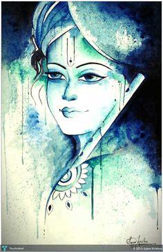 Krishna Art, Hare Krishna, Watercolor Painting Techniques, Watercolor Paintings, Lord Krishna Wallpapers, Ganesha Painting, Exotic Art, Indian Art Paintings, Hindu Art