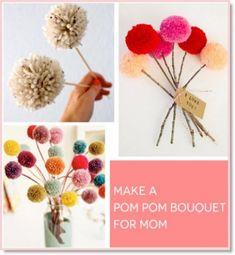 Mother's Day DIY: Make A Pompom Bouquet! - Felting