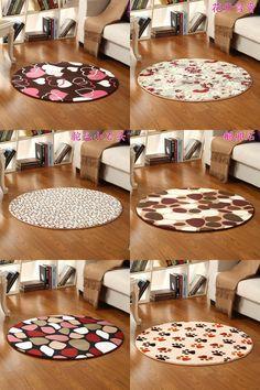 [Visit to Buy] Round Heart Printing Large Bathroom Rugs Carpet, 1 PCS Anti-Slip Mat Carpet Bathroom Carpet, Toilet Mat Doorway Rugs Tapetes #Advertisement