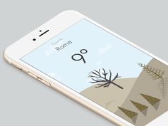 Wild Weather app - #illustration and #IxD by Studio Brun