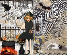 magazine zentangles | Art Journaling 101: Fall and Halloween Journals with Bonus this ...