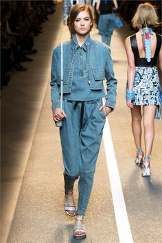Denim look Fendi