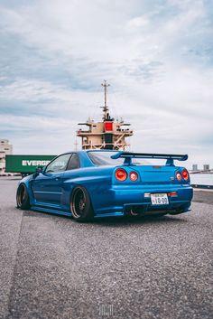 Nissan Skyline GT-R v-spec – En Güncel Araba Resimleri Skyline Gtr R34, Nissan Skyline Gt, Nissan Gtr R34, Tuner Cars, Jdm Cars, Dodge, Ferrari, Street Racing Cars, Auto Racing