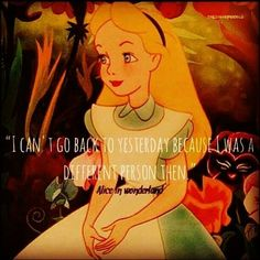 """""""I can't go back to yesterday because I was a different person then."""" MK Ultra/Monarch """"Alice In Wonderland"""" programming."""