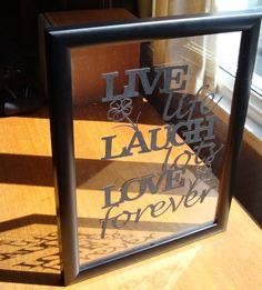 live, laugh, love papercutting