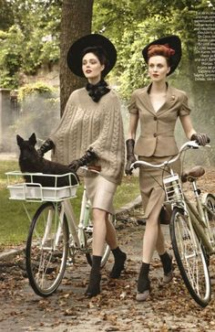 Vogue (Sept. 2009) -In the Mood by Steven Meisel. with Coco Rocha & Karen Elson.