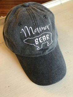 7682310cc80 Ladies mama Bear Baseball Cap. Personalized. Your choice of Ladies Baseball  Caps