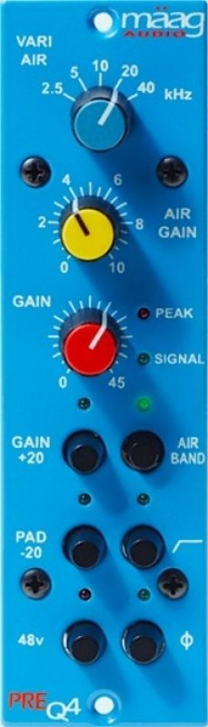 A pristine microphone preamp meets Maag's signature Air Band EQ. Two amazing units in one!