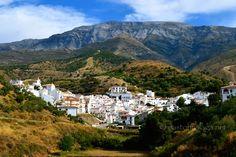 Sedella (a beautiful white village to the east of Malaga) nestled beneath Mount Maroma, Spain www.eastofmalaga.net
