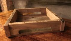 Tray from Reclaimed Pallets by PicketCreations on Etsy