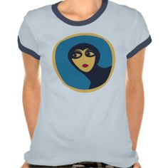 Retro space woman minimal Vector Art t-shirts