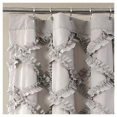 KESS InHouse Jolene Heckman Blue Folksy Yellow Gray Shower Curtain 69x70 By Kess