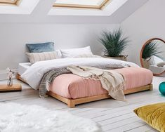 Low Loft Wooden Bed Frame by Get Laid Beds - Modern Cama Tatami, Bedroom Loft, Bedroom Decor, Bedroom Ideas, Bedroom Wardrobe, Floor Bed Frame, Attic Bed, Attic Closet, Low Loft Beds