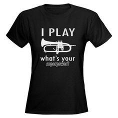 trumpet shirts | Trumpet Gifts > Trumpet T-shirts > Cool Trumpet Designs Women's Dark T ...