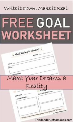 Are you looking for a Goal Setting Worksheet? So was I, but I couldn't find one so I created a simple goal setting worksheet that works for everyone. Money Saving Mom, Best Money Saving Tips, Ways To Save Money, Make Money Blogging, Goals Worksheet, Goal Setting Worksheet, 52 Week Money Challenge, Financial Peace, Goal Planning