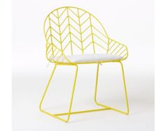 Harry Bertoia inspired bend chair available (and on sale) at West Elm.