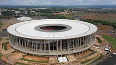 brand-new Estadio Nacional in Brasilia . Sort of like a modern Colosseum, LOL Brazil World Cup, World Cup 2014, Fifa World Cup, Soccer Stadium, Football Stadiums, Civil Engineering Construction, Brazil News, Amazing Buildings, Fox Sports