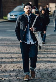 The best street style from Pitti Uomo Fall 2017. Photographed by Dan Roberts.