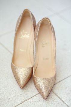 Elegant, simple, gold, Christian Louboutin