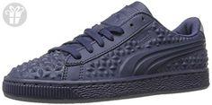 PUMA Men's Basket Classic Dia Emboss Fashion Sneaker, Peacoat-Peacoat, 4 M US (*Amazon Partner-Link)