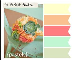 The perfect palette for spring  summer home décor.   Especially great for DIY projects!