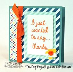 "Create 10 easy greeting cards with 1 pack of Stampin' UP! Project LIfe ""This Day"" Sale a Bration cards and 10 Cut and Ready Card Bases! Add some ribbon, punched embellishments and a few greeting stamps, voila! by Patty Bennett #stampinup #PLxSU #projectlife"