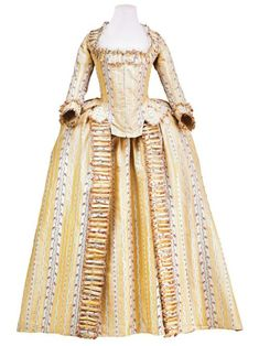 Robe à l'anglaise, ca 1780, France, Museo de la Moda. #Georgian #1700s #fashion…