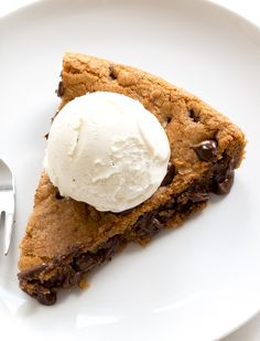 Brown Butter Chocolate Chip Skillet Cookie on MyRecipeMagic.com