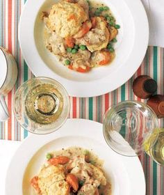 Slow-Cooker Creamy Chicken With Biscuits | Real Simple Recipes