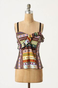 Fun to imitate in African print and wider shoulder straps? Anna Sui originally $148