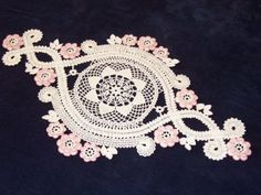 "Photo from album ""Салфетки, схемы"" on Yandex. Crochet Table Runner Pattern, Crochet Tablecloth, Crochet Doilies, Crochet Diagram, Filet Crochet, Irish Crochet, Bruges Lace, Crochet Geek, Crochet Home Decor"
