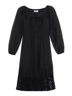 Velvet By Graham & Spencer Jolecia damask-voile dress