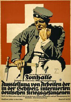 1915 LUDWIG HOHLWEIN POUR LES PRISONNIERS DE GUERRE ALLEMANDS