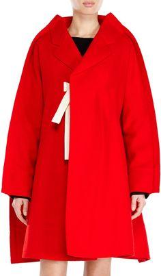Red Wool Felt Coat