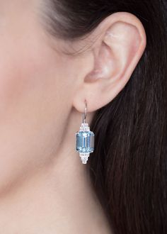 Day Sweep through party season with these sparkling aquamarine and diamond earrings. Hand-set in Dublin, One-of-a-Kind! Calendar 2014, Advent Calendar, Dublin, Diamond Earrings, Sparkle, Wire, Jewels, Party, Top