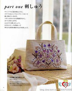 Revista japonesa con muchos bordados y sus esquemas.