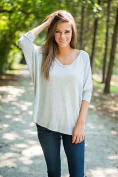 Couch Surfer Top, Gray